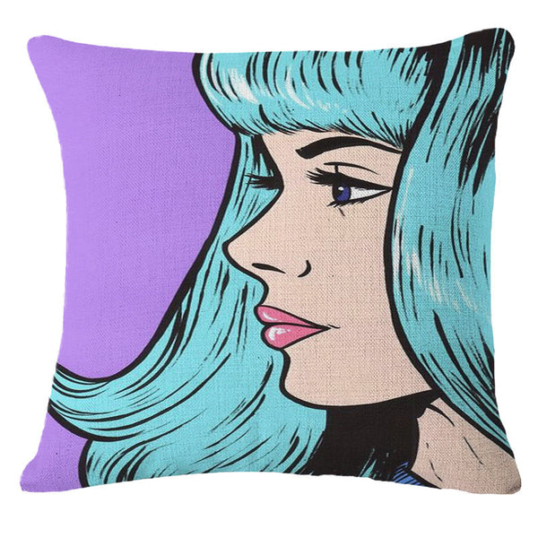 Online discount shop Australia - Decorative Pillows Cushion Pop Animation Art Cushions Home Decor Roy Lichtenstein Pop Art Painting tears woman