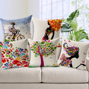 Online discount shop Australia - Charming Pattern Cushion Covers Cotton Linen Fashion Cushion Covers Decorative Chair Waist Squre Throw Pillow Cover Home Decor