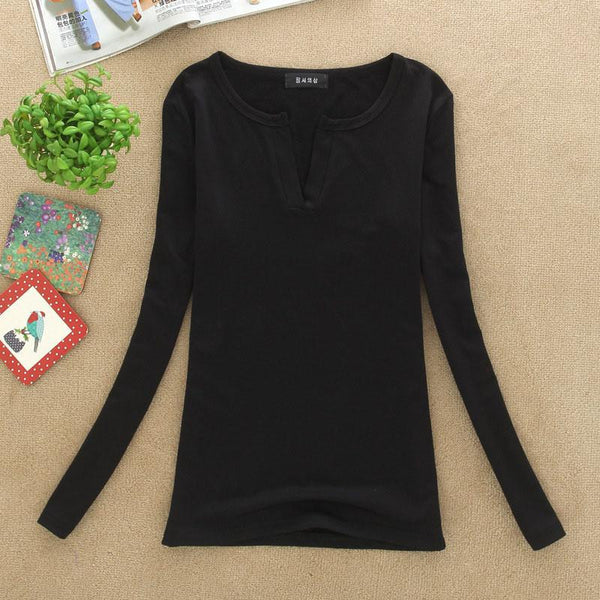 V-Neck Women Blouses Sexy slim Knitted Clothes Long Sleeve Tops for Women clothing,CT220