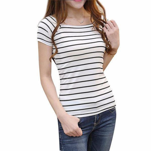 Women Unique Print Tops Short Sleeve Fashion  Women Tshirt Cotton Tee Shirt Slim