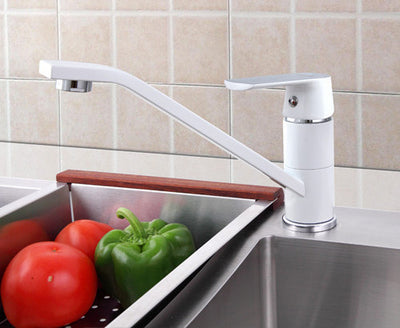 Online discount shop Australia - Fashion Style Multi-color Kitchen Faucet Cold and hot water taps White Orange Green 360 Rotation