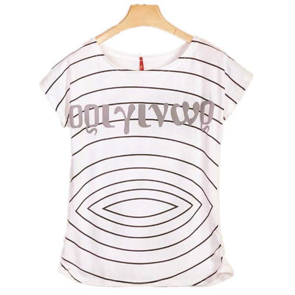 Womens Clothes Casual Printed Cotton Vintage Short-sleeve Elastic Brand Women T-shirt Tops for Women