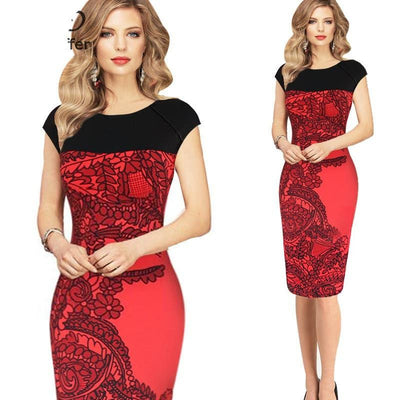 Women Dress Office Bodycon Dress Women Elegant OL Pencil Party Dresses Bandage Vestidos Female Plus Size