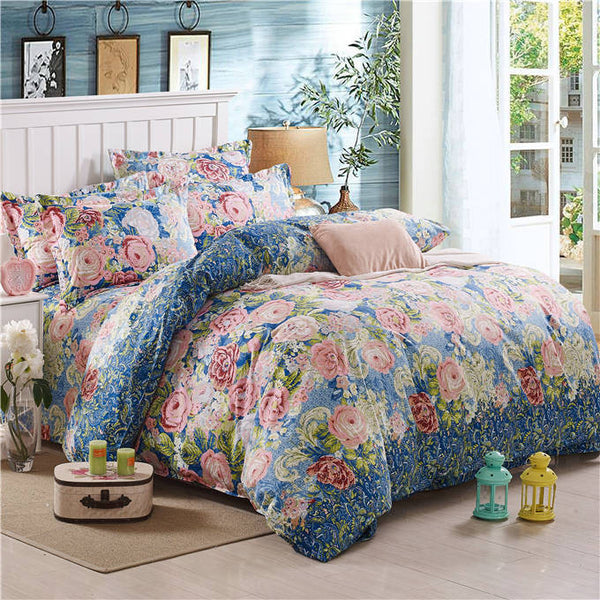 Bohemia boho 100% Polyester 4PCS Bedding set Duvet cover flat sheet