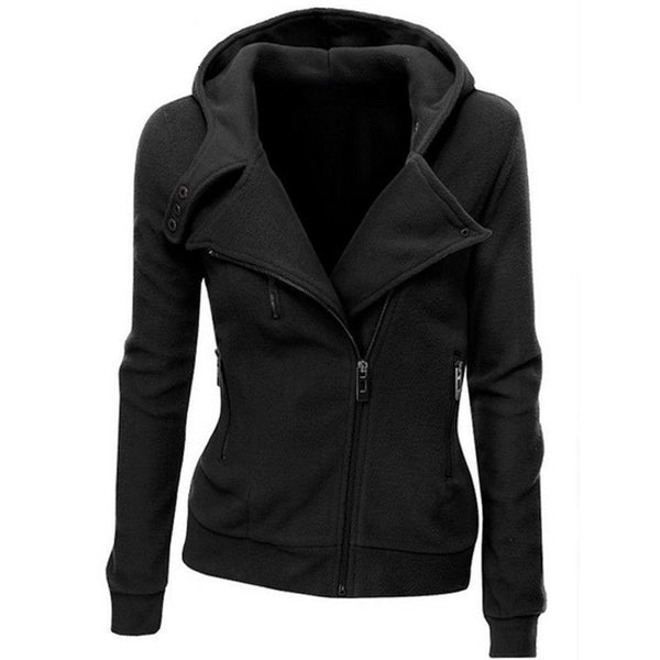 women Sweatshirts Solid Color Hooded Jacket Long Sleeve Women's Hoodie Zipper Fall women Coat