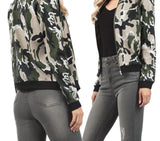 Women Basic Coats Casual Slim Zippers Print Bomber Jacket Street Fashion Outfit Female Jackets