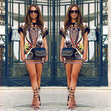 Online discount shop Australia - Boho Sexy Women Short Sleeve Cocktail Party Summer Beach Short Mini Dress