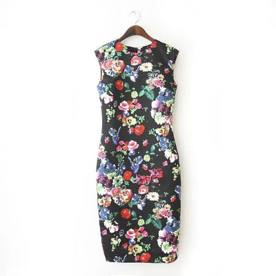Online discount shop Australia - New Autumn Beach Dresses Elegant Slim Women's Dresses Pencil Vestidos Floral Sexy Bodycon Long Party Sexy Dresses