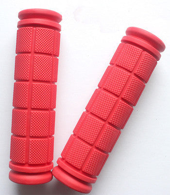 Double Lock Soft Rubber Cycling BMX MTB Mountain Bike Scooter Fixed Gear Handlebar Grips Bicycle Parts Accessory ToolReda