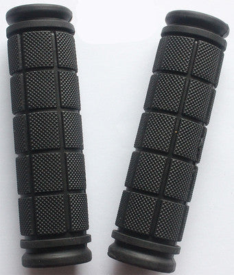 Double Lock Soft Rubber Cycling BMX MTB Mountain Bike Scooter Fixed Gear Handlebar Grips Bicycle Parts Accessory ToolBlacka