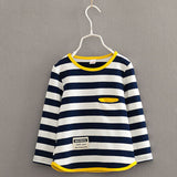 Online discount shop Australia - Long sleeve t-shirt for girls stripe boys shirts children tops children's sweatshirts baby clothing tees