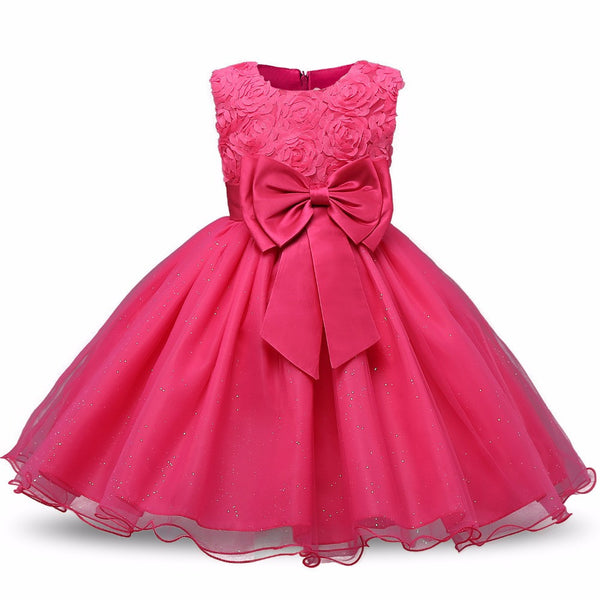 New Dresses Princess Baby girls Clothes Children Clothing Wedding party Kids Dress for girl 5 6 7 Birthday