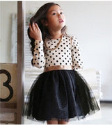 Online discount shop Australia - Kids Toddlers Girls Dresses Polka Dot Bow-Knot Long Sleeve Dress Girl Clothing Party Kids Clothes 3-8Year