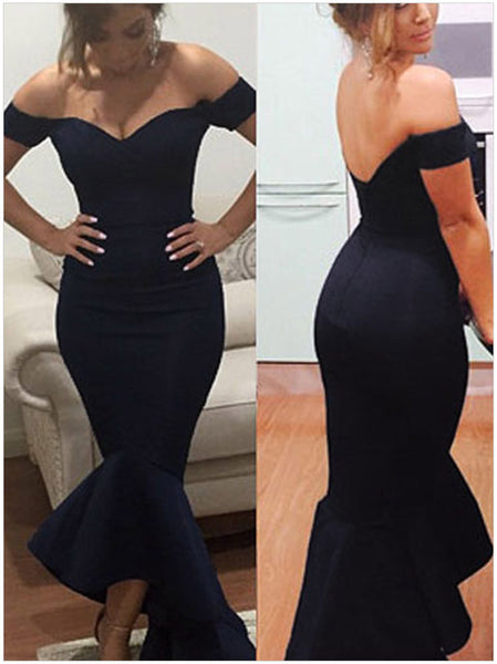 Online discount shop Australia - Elegant Long Party Dresses Nary Blue Gown Sexy Long Dress Party Evening Elegant Women Bodycon Mermaid Dress Off Shoulder