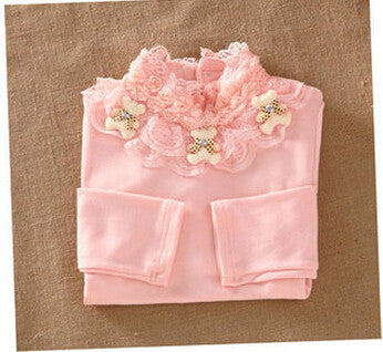3-12T Kids Girl Sweater Fashion Lace Sweater Children Cotton Cardigan Baby Outerwear Girls Knitwear ClothesFa