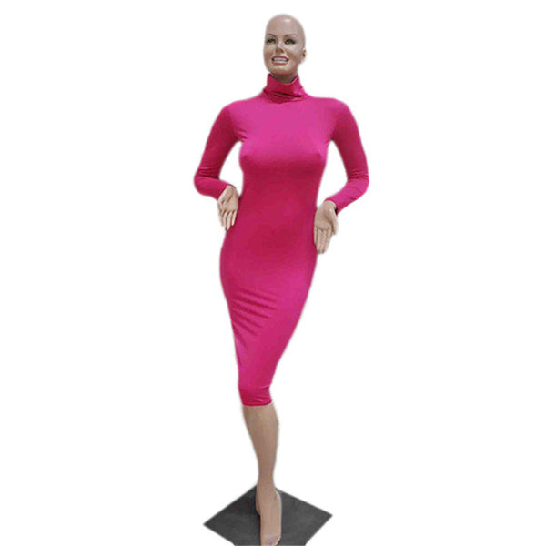 Online discount shop Australia - 8 Colors Women's Sexy Slim Fashion Europe Style High Neck Clubwear Night Wear Bodycon Dresses