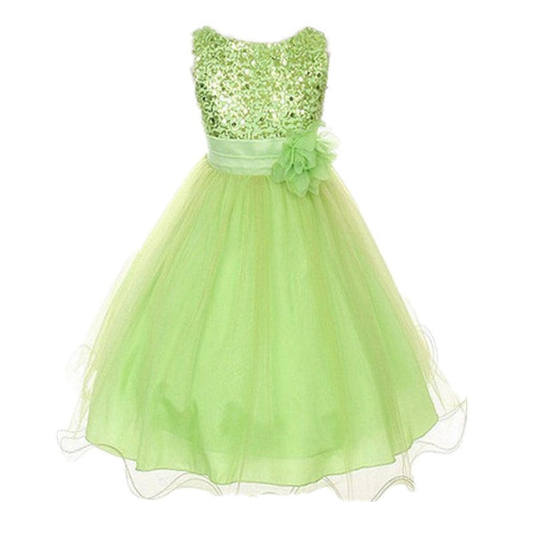 Online discount shop Australia - Multi-Color Kids Dresses Infant Girl Sequin Flower Party Dress Sleeveless Tutu Vestidos