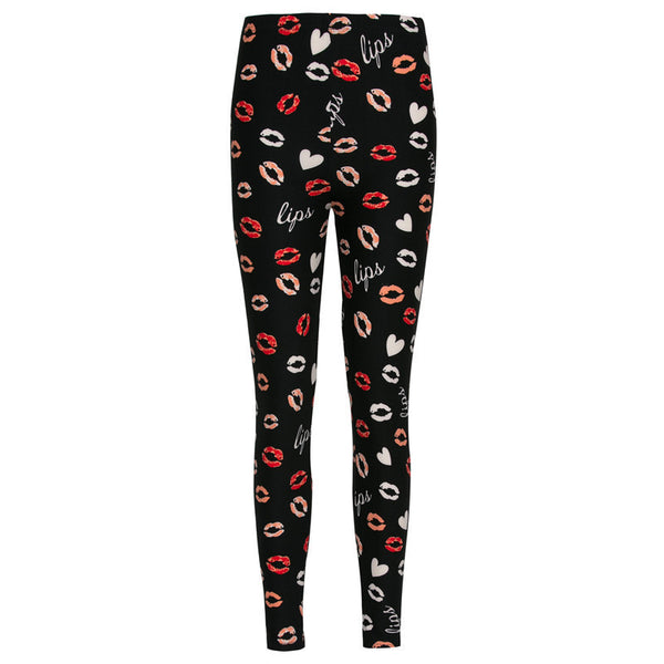 Online discount shop Australia - Lip Dot Cartoon Leggings Women With Print leggings soft hot thickness spandex /Cotton Pants Legging stretch female leggins