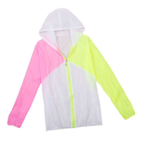 sale New  Style Women Hoodies Hooded Coat Long Sleeve Sun Protect Transparent Beach Clothing Beach Shirt
