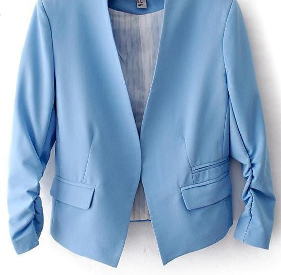 Online discount shop Australia - New  short jackets Candy Color Women outwear Slim Short Design Suit Coat S/M/L/XL LD0606
