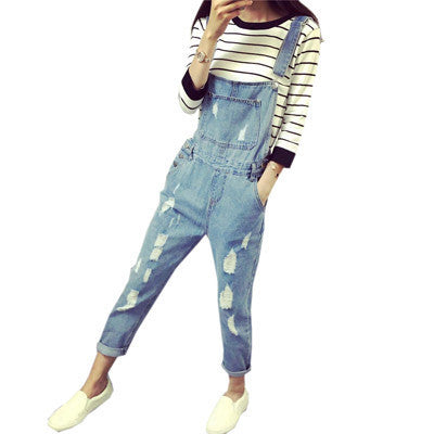 Helpful Women Summer Clothing Overalls High Waist Slim Jeans Bf Loose Leg Jumpers Lapel Pocket Shorts Jumpsuit Denim Casual Streetwear In Pain Women's Clothing