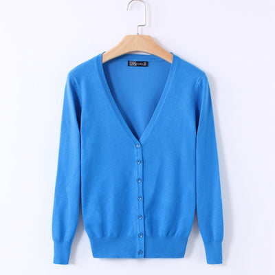 Online discount shop Australia - 21 Solid Colors new Sweater Women Cardigan Knitted Sweater Coat Long Sleeve Crochet Female Casual V-Neck Woman Cardigans Tops