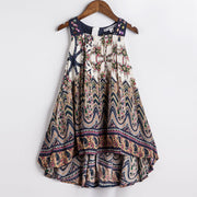 Online discount shop Australia - Baby Girls Dress New Brand Kids Print Party Dress for Girls Children Bohemian Fashion Clothes