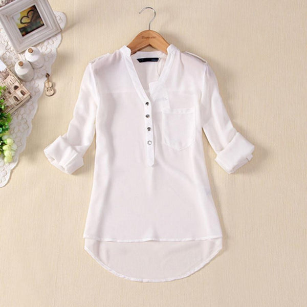 0ad02ddc00c93 Women Chiffon Blouse Shirts Womens Tops Fashion Style Clothing Short Sleeve  Plus Size S-3XL