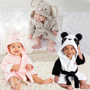 Online discount shop Australia - Children's clothing boys girls Robes new cartoon baby bathrobe Sleepwear and Robe Pink rabbit bear