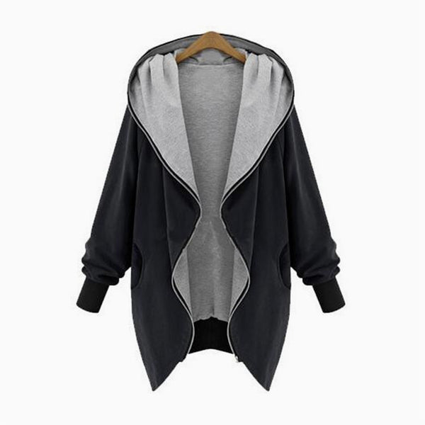 Online discount shop Australia - Europe and America Fashion Casual Hooded Large Size Women  Increase Thin Jackets Women outerwear coats