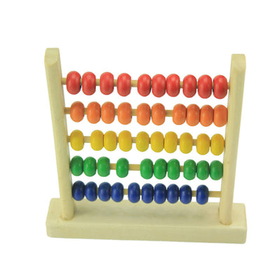 Online discount shop Australia - Kids Toy 5-Row Classic Bead Wooden Abacus Child Educational Calculate Count Numbers