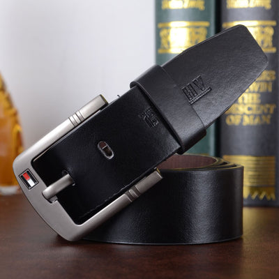 New hot PU leather mens belt black pin buckle belts for men designer famous belt luxury male strap