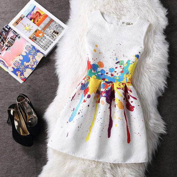 Women Summer A-line Dress Vintage Printed Sexy Sleeveless Party Vestido De Festa Female Clothing Jacquard Dresses SXDRS96
