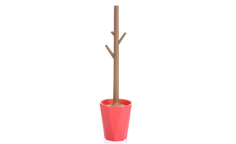 Branch Design PP PS Toilet Brush with Funny Base Household Cleaning Tool Strong Detersive Power Durable Type and OrnamentalReda