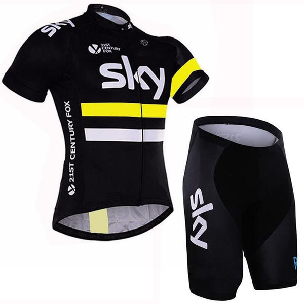 Team sky Pro Cycling Jersey set Cycling clothing Breathable Mountain Bike Clothes Quick Dry Bicycle Sportswear Cycling Set