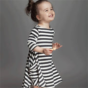 Online discount shop Australia - Casual Long Sleeve Girls Striped Dress New Cotton Children Baby Clothing Toddler Girl Clothes Kids School Wear Dress