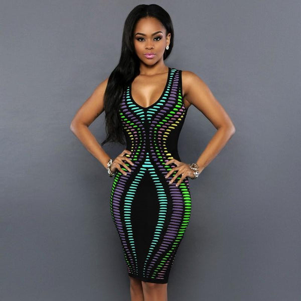 Women Summer Dress Robe Sexy Bodycon Party Dresses Plus Size Sleeveless Sundress Pencil Casual Polka Dot Dress
