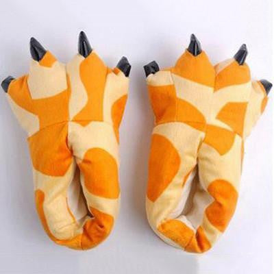 Warm Soft Indoor Floor Slippers Women Men Shoes Paw Funny Animal Soft Soft Plush Shoes High Quality