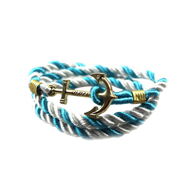 Vintage Anchor Bracelet Men Women Trendy Rope Bracelet Fashion Accessories Fine Jewelry