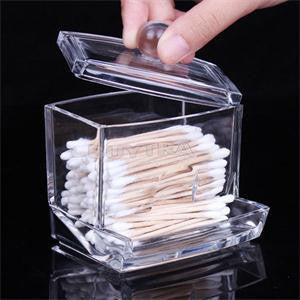 Online discount shop Australia - Clear Cotton Swabs Box Plastic Q-tip Holder Cotton Swabs Stick Storage Box Cosmetic Makeup Organizer Women's Powder Case 1PC