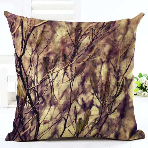 Online discount shop Australia - Green Tropical Plant Leave Birds Pillow Cover Colorful Flower Cushion Cover Car Sofa Home Decoration