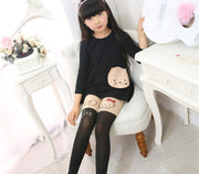 Online discount shop Australia - Girl's Kids Splice Thick Baby Devil Cat Elastic Waist Tight Cotton Velvet Stocking Knitted Stitching Pantyhose T0192