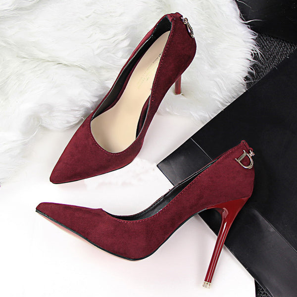 Red Bottom High Heels Wedding Shoes Women Pumps Fashion Women Shoes Woman Sexy Pointed Toe Thin High Heels Ladies shoes