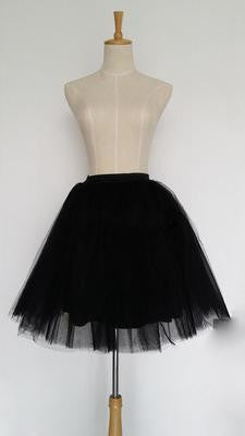 af65a5db09a8f Tulle Skirts Womens 7 Layers High Quality Summer Womens Adult Tutu Skirt  Pleated Midi Skirts
