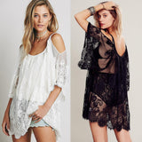women dress social club robe  lace See-through off shoulder bodycon dress