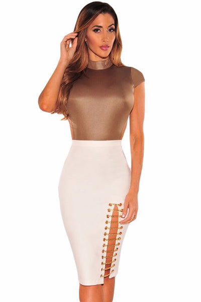 Sexy ladies skirt fashion skirt For OL Women Super Sleek Zipped Bodycon Skirt