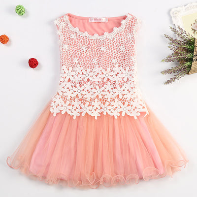 Online discount shop Australia - Fairy Princess Lace Flowers Girls Dress Kids Birthday Party Wear Toddler TuTu Girls Dresses Girl Clothing Kids Baptism Clothes