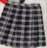 Online discount shop Australia - Midi Pleated Women Skirts High Waist Red A-Line Short Skirts Uniforms School Tartan Plaid Skirt Saias