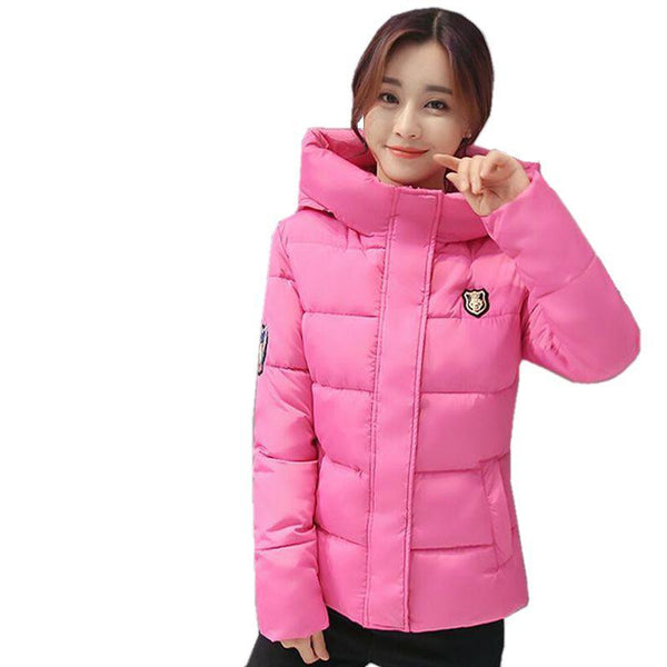 Women Jacket Hooded Thickening Super warm Short Coat Long sleeve Slim Big yards Cotton clothes
