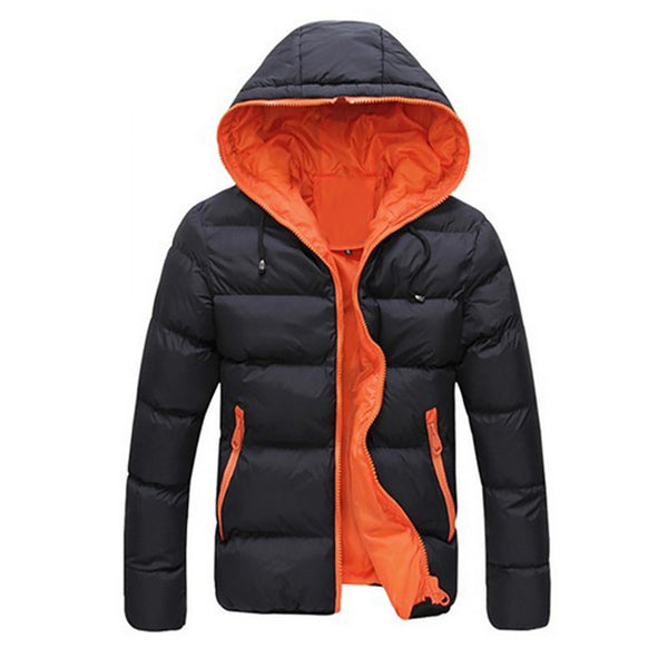 Online discount shop Australia - Coat Men Slim Casual Warm Jacket Hooded Essential Thick Men Coat Parka Overcoat Hoodie Zipper Pocket Masculino Coat Oct21